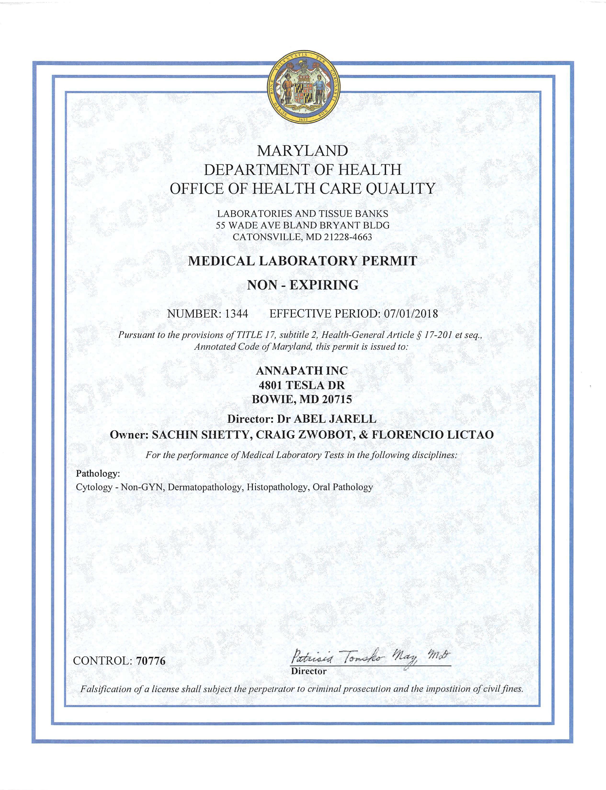 DHMH_Certificate_MD_NonExp